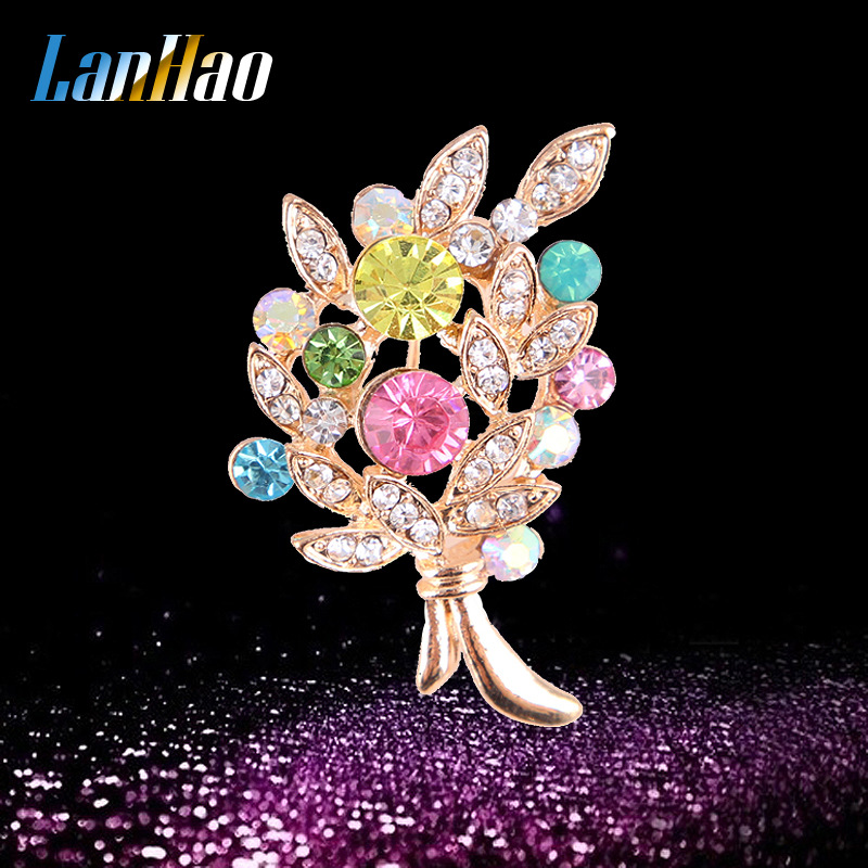 Stylish Colorful Small Bouquet Brooch for Collar Pin