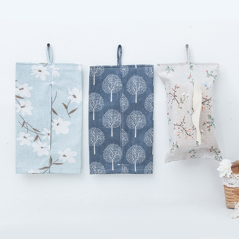 Soft Cotton and Linen Tissue Box for  Home