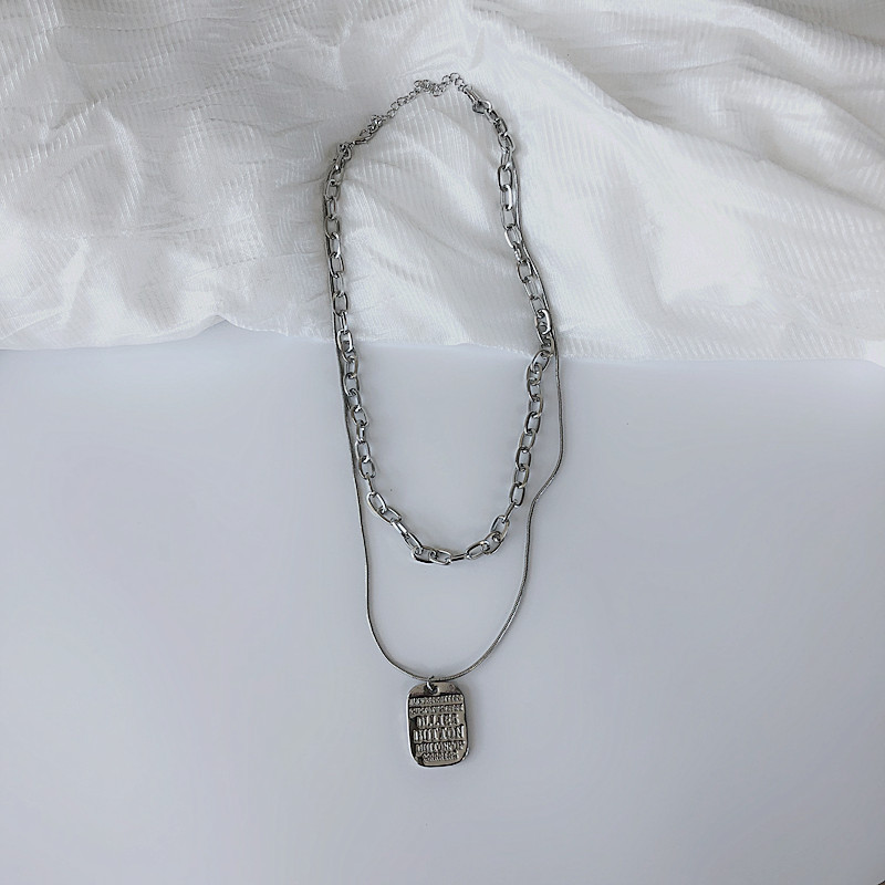 Western Style Double-stacked Necklace for Hip-hop Fashion