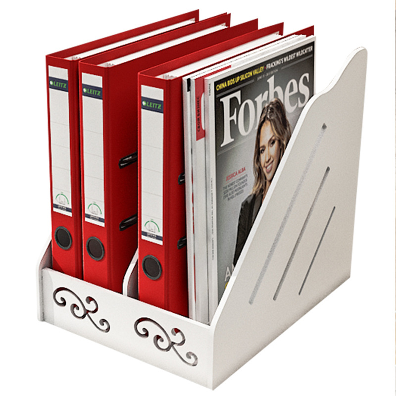 Durable White Double Partition File Storage for Books