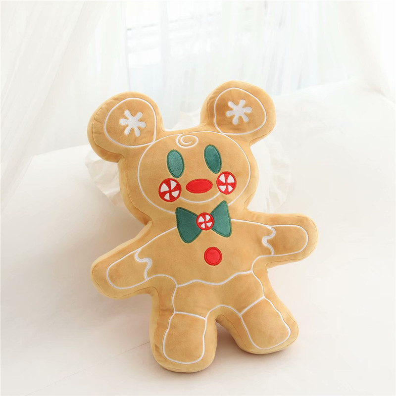 Adorable Gingerbread Man Pillow for Kids Christmas Gift Ideas