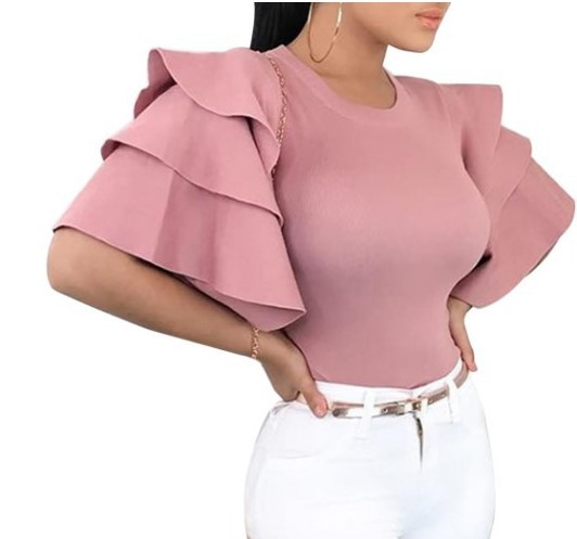 Fabulous Accentuated Layered Sleeve Blouse for Special Occasions