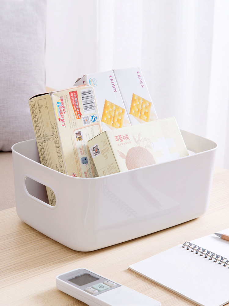 Rectangular Solid Color Storage Sorting Box for Organizing Cosmetics
