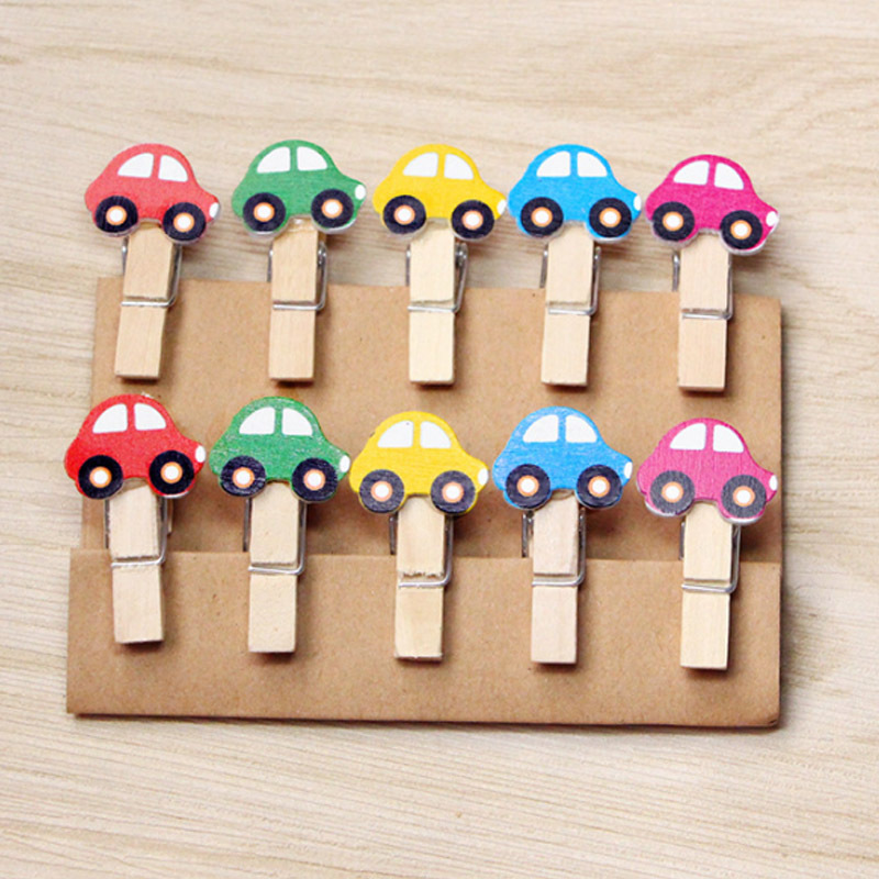 Little Cars Wooden Clip for Photo Wall