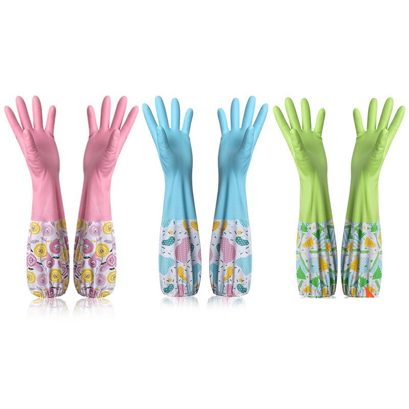 Serviceable Rubber Gloves for Laundry and Dishwashing