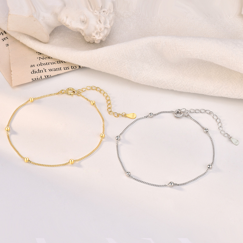 Simple Brilliant Anklet for Casual Parties
