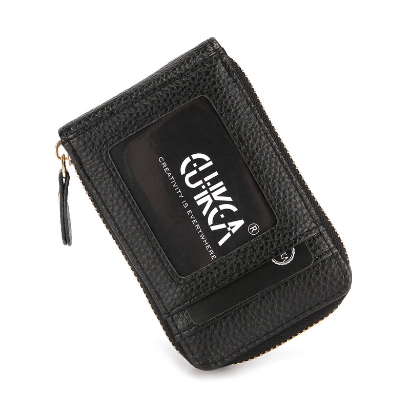 Pebbled Synthetic Leather Compact Wallet for Holding Business Cards