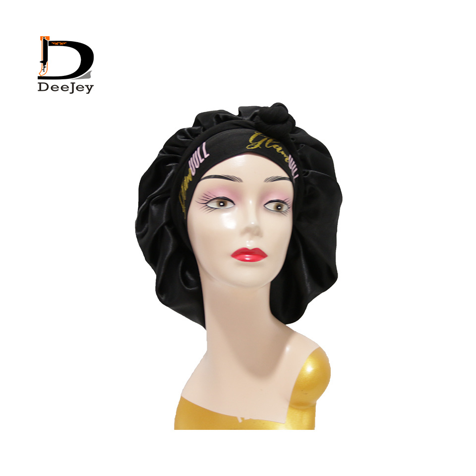 Large Polyester Dark Colored Cap for Rebonded Hair