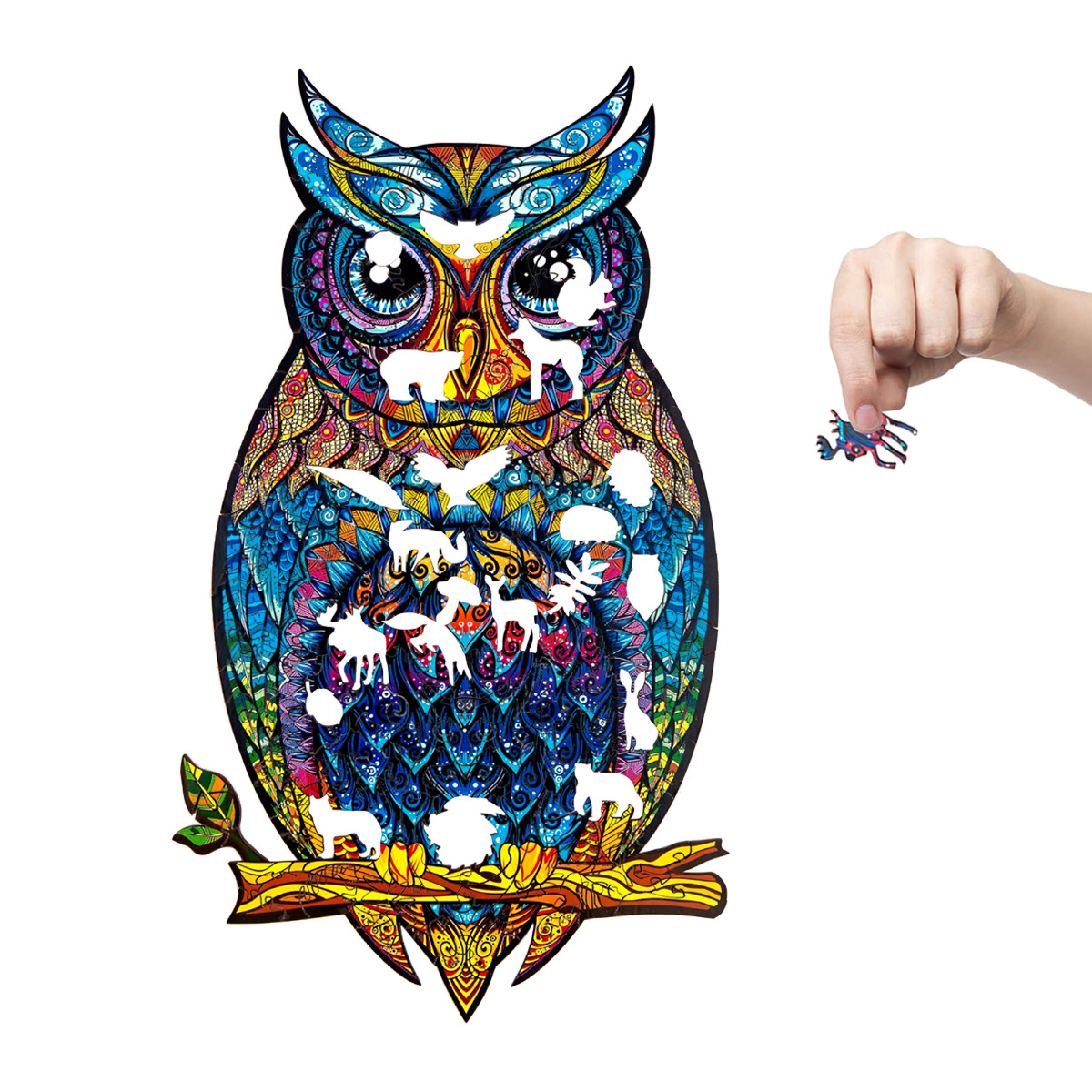 Colorful Owl Puzzle Wall Sticker for Children