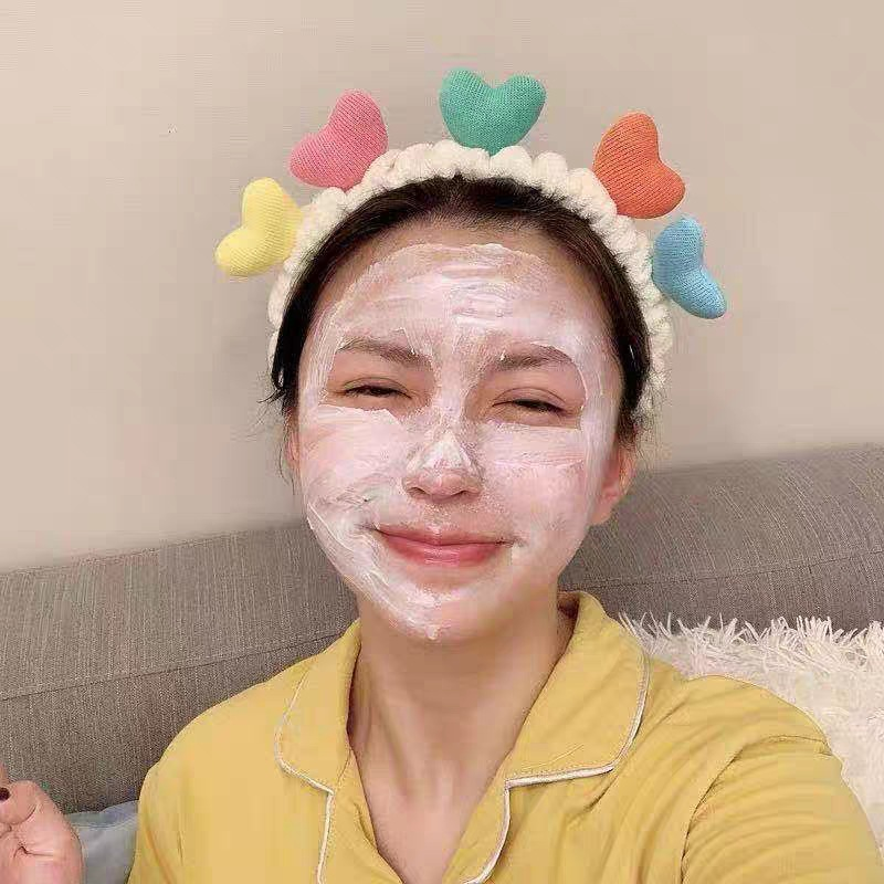 Floating Hearts Face Wash Headband for Beautiful Faces