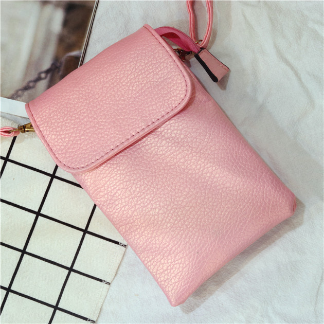 Sleek PU Leather Mobile Phone Crossover Bag for Daily Errands