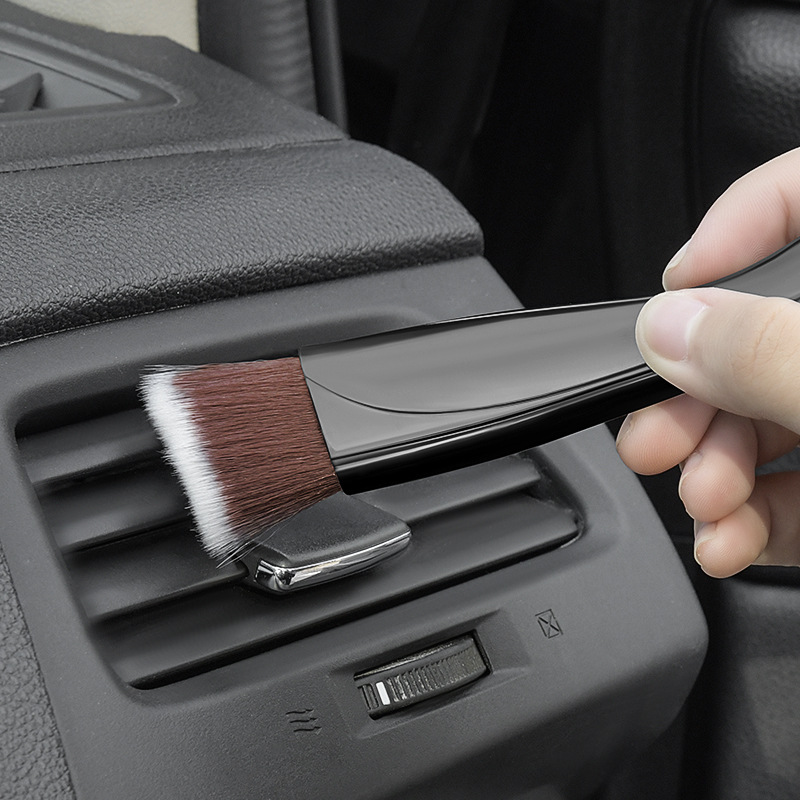 Soft-Bristled Air-Conditioning and Crevice Cleaning Brush for Cars