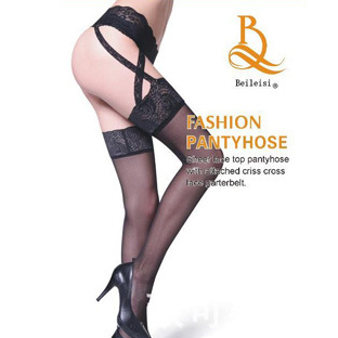 Breathable Mesh Thigh-High Socks for Wearing with Pencil Cut Skirts