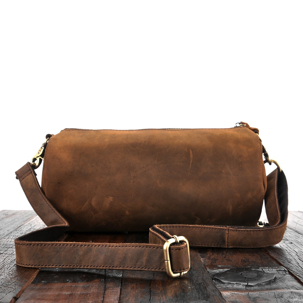 Cylindrical Bag for Both Women and Men