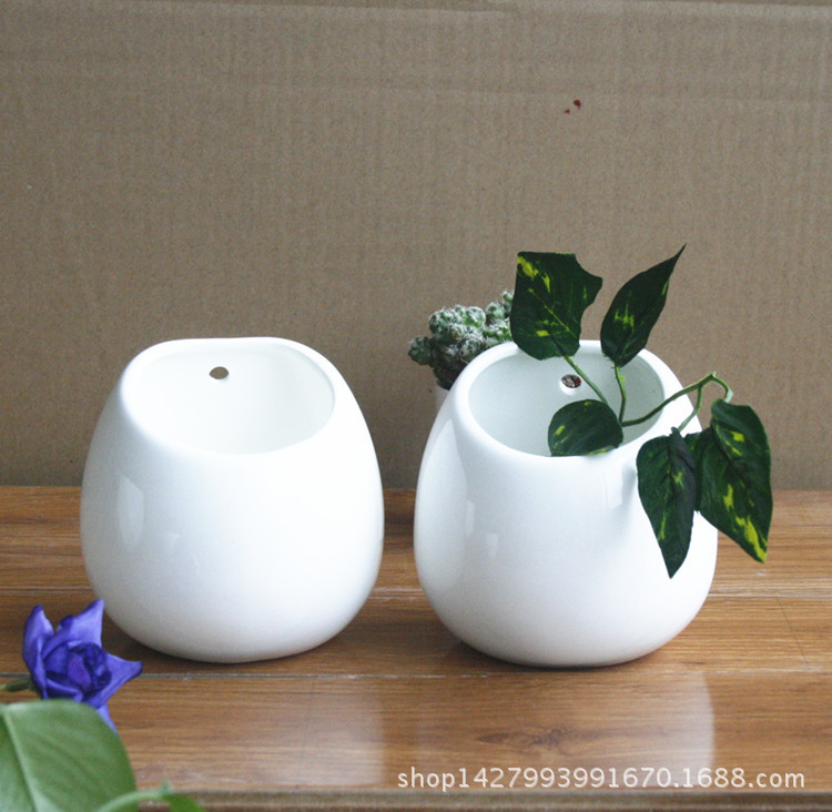 Solid Color Ceramic Round Vase for Study Table