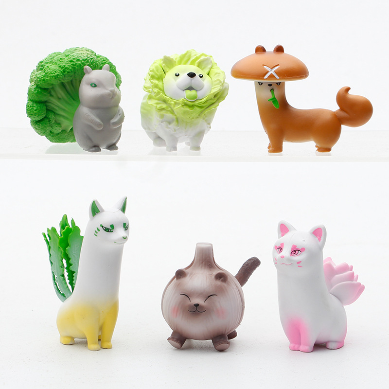 Quirky Vegetable Animal Ornaments for Study Table Display