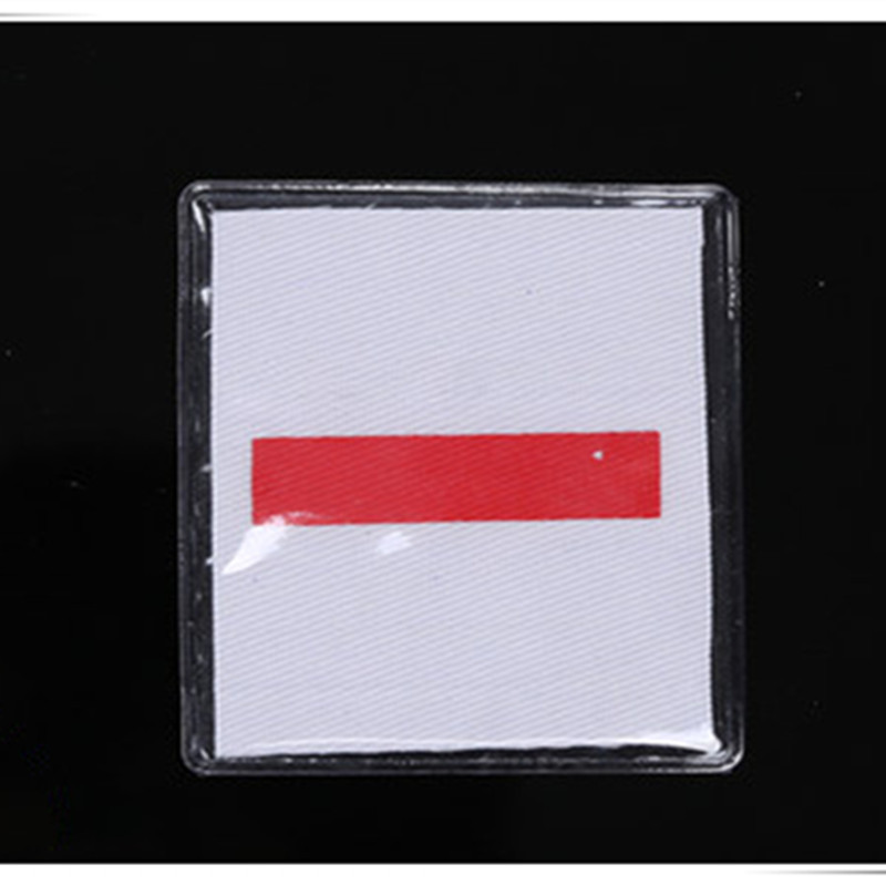 Red Strip White Cloth Patch for Out-of-the-Box Outfits