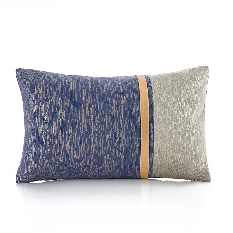 Elegant Shades of Blue Pillow for Bachelor's Pad