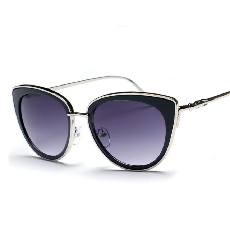 Thick Rimmed Gradient Cat Eye Sunglasses