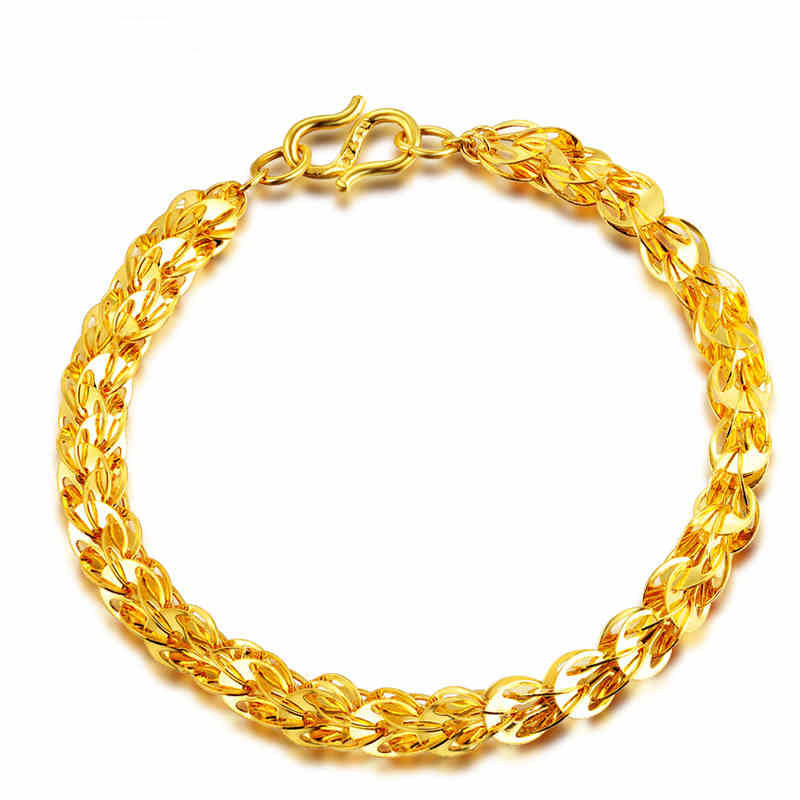 Gold-Plated Copper Chain Bracelet for Posh Outfits