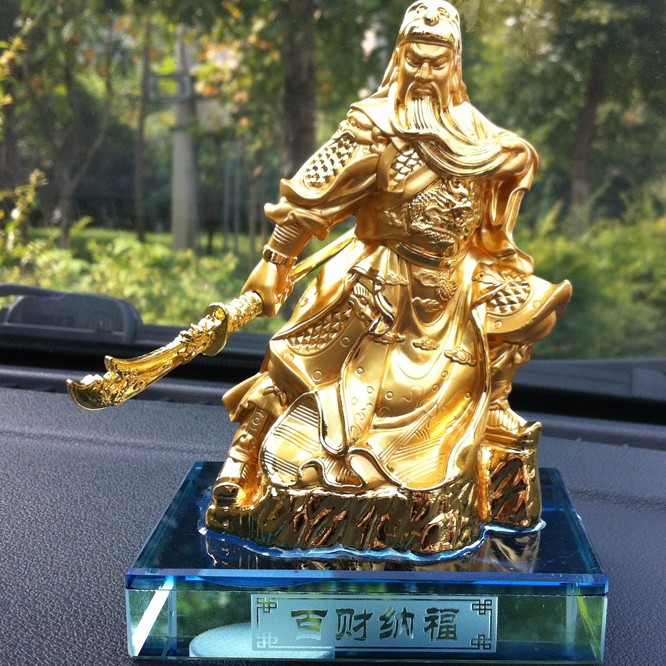 Gold Plated Kung Fu Master Car Perfume Holder for Car Decoration