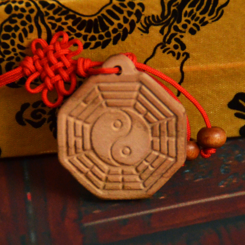 Traditional Chinese Wooden Bagua Pendant  for Home