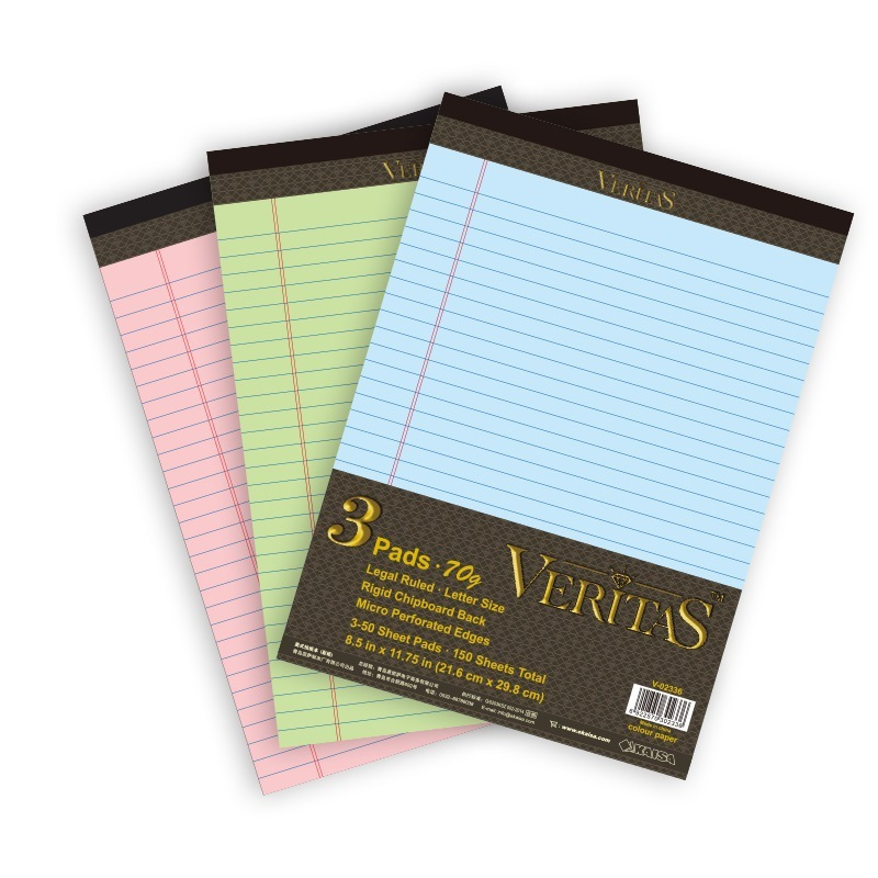 Legal Pad Paper in Different Colors