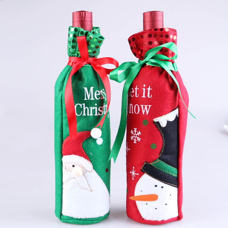 Essential Printed Wine Bottle Bag for Attending Your Neighbor's Christmas Party