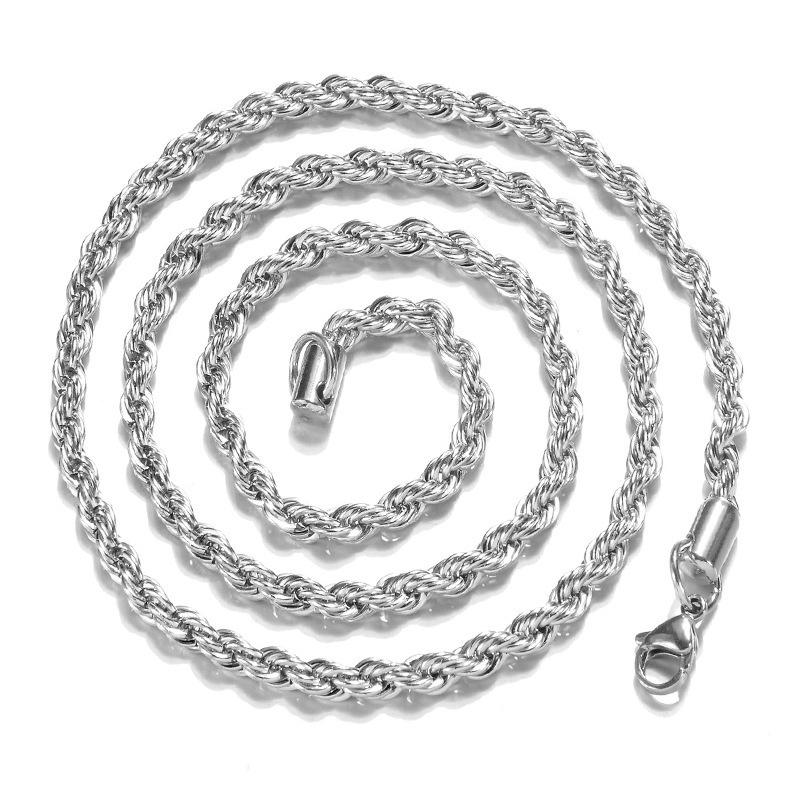Sterling Silver Rope Chain Necklace