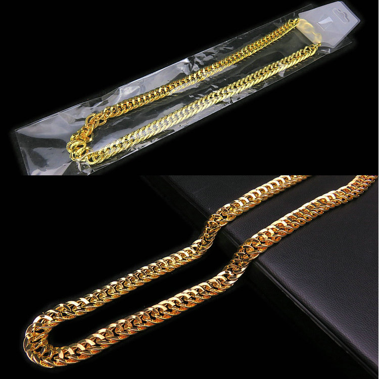 Electrifying Gold-Toned Chain Necklace for Domineering Street Fashion Clothes