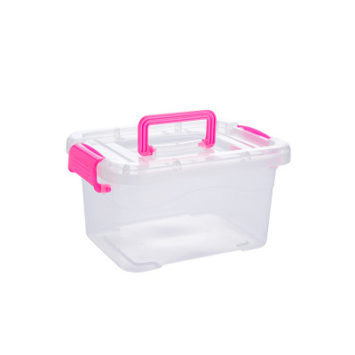 Firm See-Through Container Box for Storing Medical Supplies