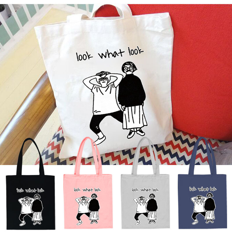 Adorable Artsy Printed Canvas Tote Bag for Everyday Use