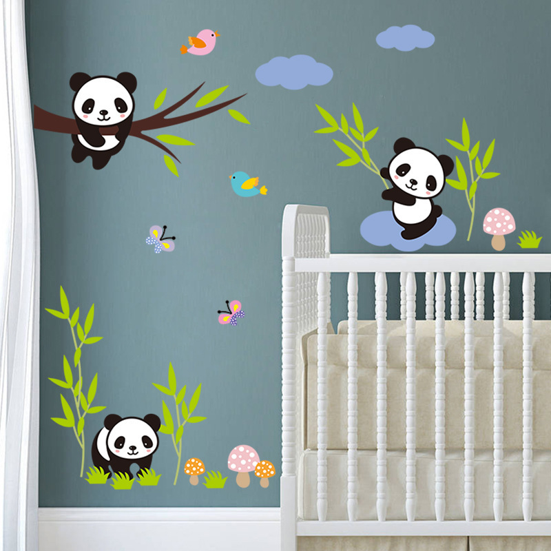 Adorable Baby Panda Wall Sticker for Bedroom