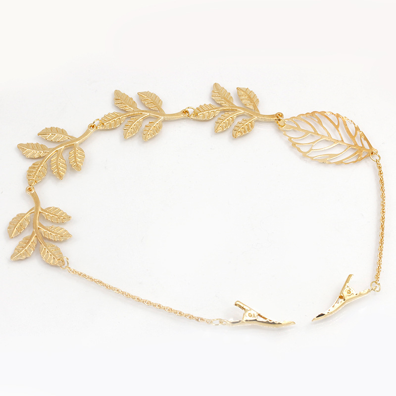 Chained Vintage Leaves Hair Clip for Bridal Accessories