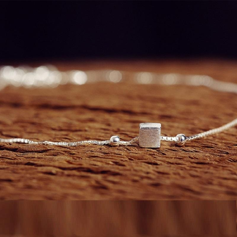 Delicate Cube Anklet