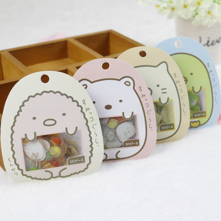 Cute Cartoon Animal Sticker (50 Pieces/Set) for Arts and Crafts