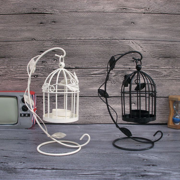 Lantern-Like Bird Cage Candle Holder for Anniversary Giveaways