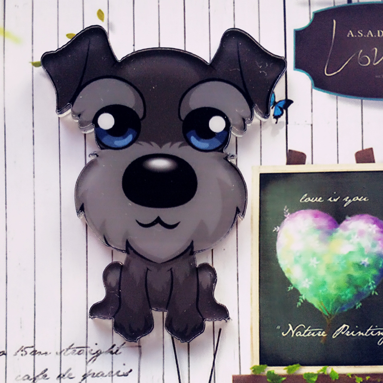 Cute Acrylic Dogs Pin for Dog Lovers