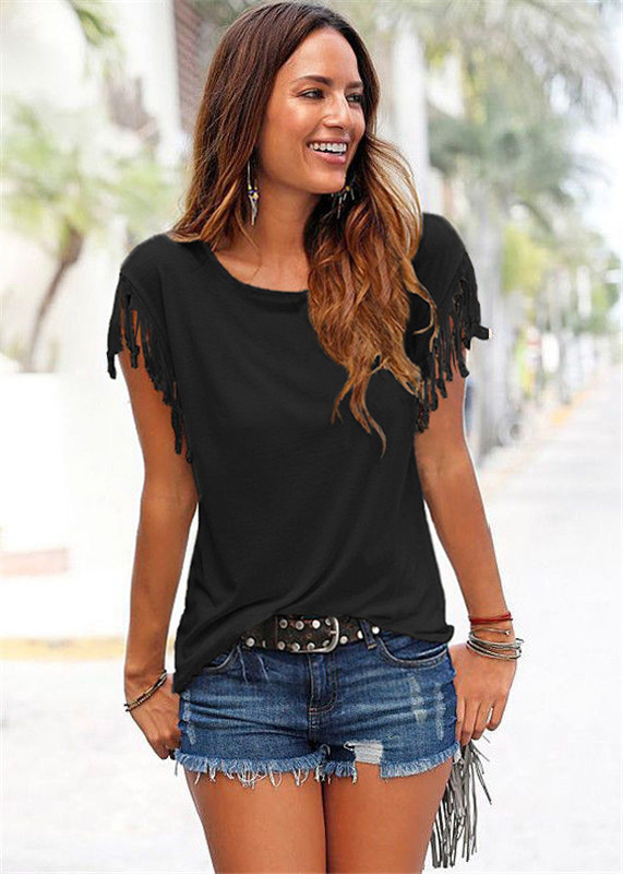 Cute and Classy Women's Top with Fringed Sleeves for Casual Parties