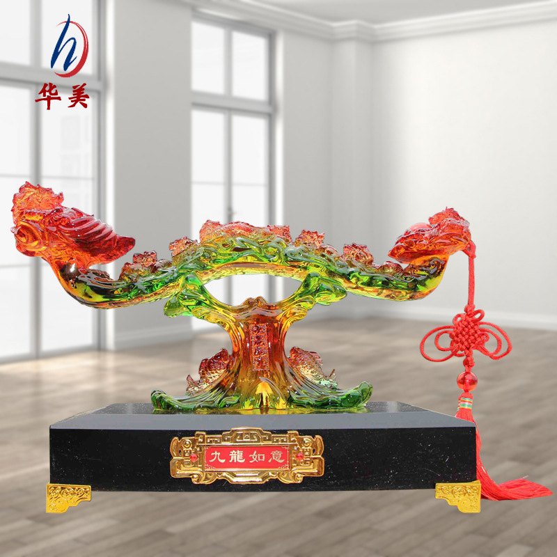 Chinese Style Imitation Jade Ornament for Tabletop