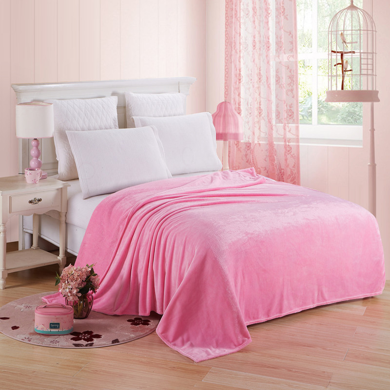 Plain Color  Cool Summer Blanket for Napping