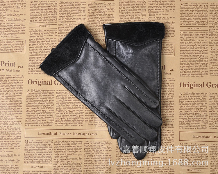 Warm Faux Leather Gloves for Outdoor Activities