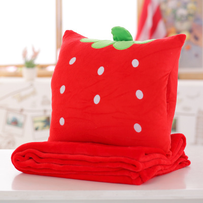 Adorable Animal Plush Pillow and Blanket for Slumber Parties