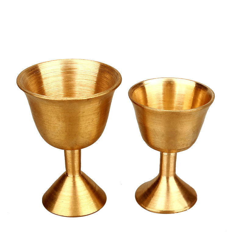 Simple Copper Cup for Altar Piece and Ceremony