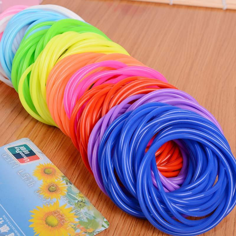 Colored Silicone Thin Bracelet