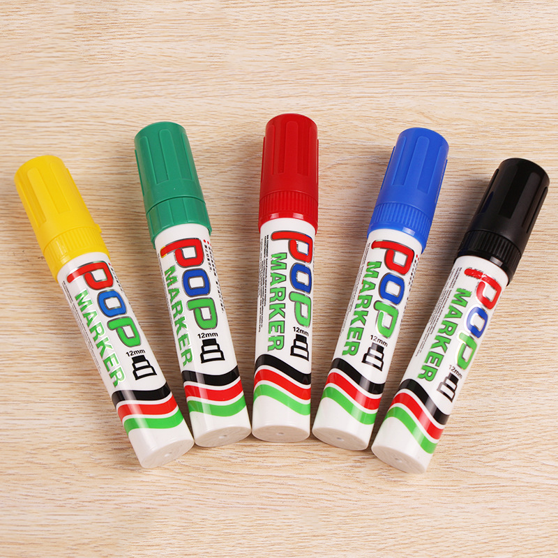 Refillable Thick Chisel Marker for School Supplies