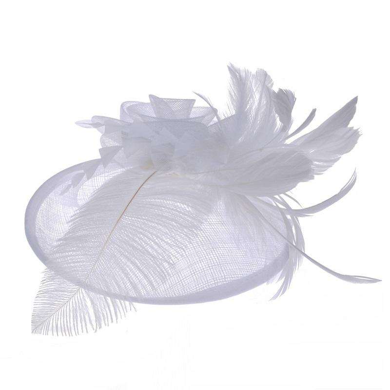 Bridal Hat with Ostrich Wool
