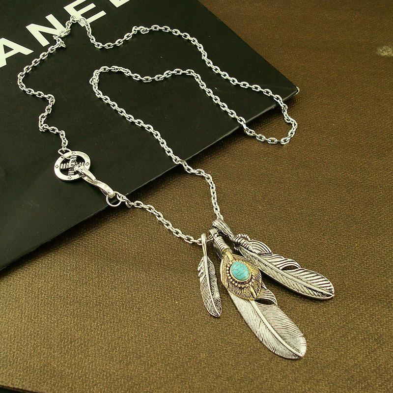 Long Feathers Necklace