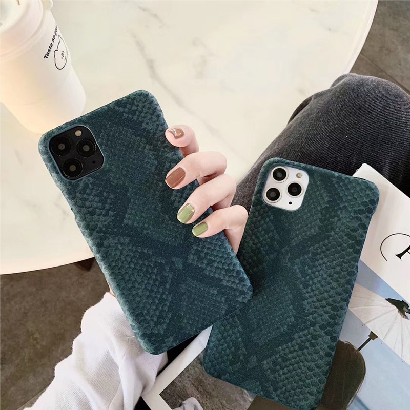 Green Faux Snakeskin iPhone Case