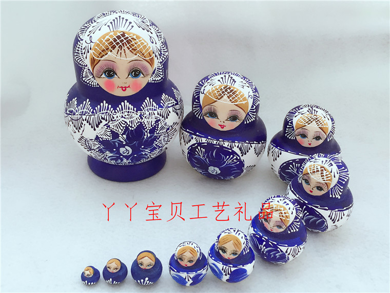 10-Layered Hand-Painted Matryoshka Doll for Classic Homes